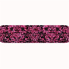 Damask2 Black Marble & Pink Marble Large Bar Mat by trendistuff