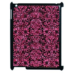 Damask2 Black Marble & Pink Marble Apple Ipad 2 Case (black) by trendistuff
