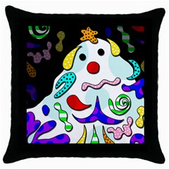 Candy Man` Throw Pillow Case (black) by Valentinaart