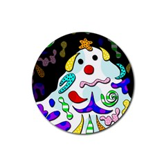 Candy Man` Rubber Round Coaster (4 Pack)  by Valentinaart