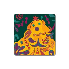 Candy Man 2 Square Magnet by Valentinaart