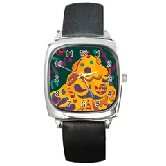 Candy Man 2 Square Metal Watch by Valentinaart