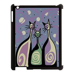 Cats Apple Ipad 3/4 Case (black) by Valentinaart