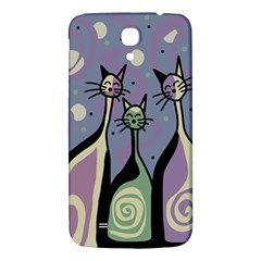 Cats Samsung Galaxy Mega I9200 Hardshell Back Case by Valentinaart