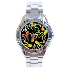 Octopuses Pattern 2 Stainless Steel Analogue Watch by Valentinaart