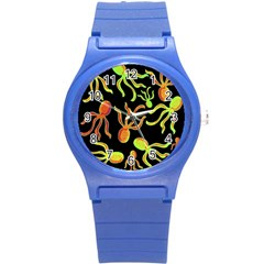 Octopuses Pattern 2 Round Plastic Sport Watch (s)