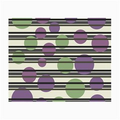 Purple And Green Elegant Pattern Small Glasses Cloth by Valentinaart