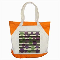 Purple And Green Elegant Pattern Accent Tote Bag by Valentinaart
