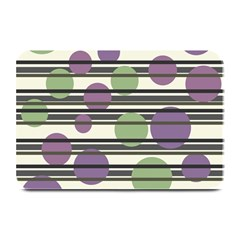 Purple And Green Elegant Pattern Plate Mats by Valentinaart
