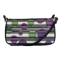 Purple And Green Elegant Pattern Shoulder Clutch Bags by Valentinaart