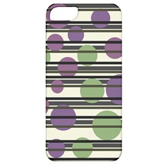 Purple And Green Elegant Pattern Apple Iphone 5 Classic Hardshell Case