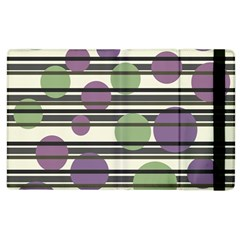 Purple And Green Elegant Pattern Apple Ipad 2 Flip Case by Valentinaart