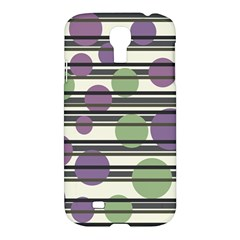 Purple And Green Elegant Pattern Samsung Galaxy S4 I9500/i9505 Hardshell Case by Valentinaart