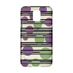Purple And Green Elegant Pattern Samsung Galaxy S5 Hardshell Case  by Valentinaart