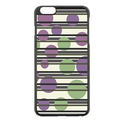 Purple And Green Elegant Pattern Apple Iphone 6 Plus/6s Plus Black Enamel Case by Valentinaart