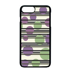 Purple And Green Elegant Pattern Apple Iphone 7 Plus Seamless Case (black) by Valentinaart