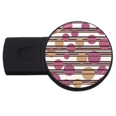 Simple Decorative Pattern Usb Flash Drive Round (4 Gb)  by Valentinaart