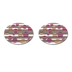 Simple Decorative Pattern Cufflinks (oval) by Valentinaart