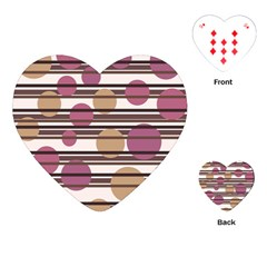 Simple Decorative Pattern Playing Cards (heart)  by Valentinaart