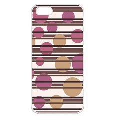 Simple Decorative Pattern Apple Iphone 5 Seamless Case (white) by Valentinaart