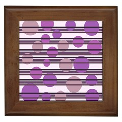 Purple Simple Pattern Framed Tiles