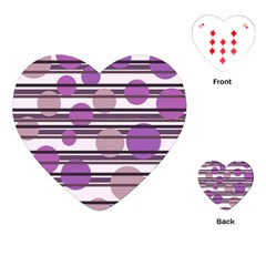 Purple Simple Pattern Playing Cards (heart)  by Valentinaart