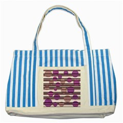 Purple Simple Pattern Striped Blue Tote Bag