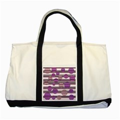 Purple Simple Pattern Two Tone Tote Bag by Valentinaart
