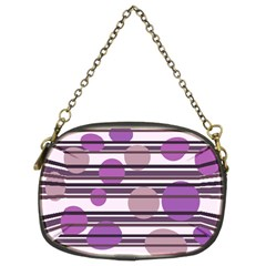 Purple Simple Pattern Chain Purses (two Sides)