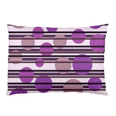 Purple Simple Pattern Pillow Case by Valentinaart