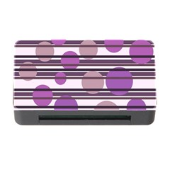 Purple Simple Pattern Memory Card Reader With Cf by Valentinaart