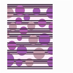 Purple Simple Pattern Small Garden Flag (two Sides)
