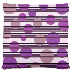 Purple Simple Pattern Large Cushion Case (two Sides) by Valentinaart