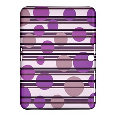 Purple Simple Pattern Samsung Galaxy Tab 4 (10 1 ) Hardshell Case  by Valentinaart