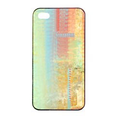 Unique Abstract In Green, Blue, Orange, Gold Apple Iphone 4/4s Seamless Case (black) by digitaldivadesigns