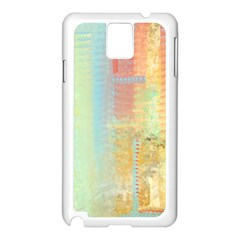 Unique Abstract In Green, Blue, Orange, Gold Samsung Galaxy Note 3 N9005 Case (white) by digitaldivadesigns