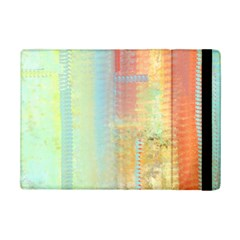 Unique Abstract In Green, Blue, Orange, Gold Ipad Mini 2 Flip Cases by digitaldivadesigns