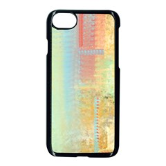 Unique Abstract In Green, Blue, Orange, Gold Apple Iphone 7 Seamless Case (black)
