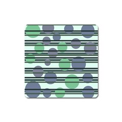 Green Simple Pattern Square Magnet