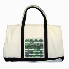 Green Simple Pattern Two Tone Tote Bag by Valentinaart