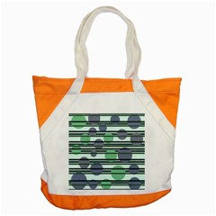 Green Simple Pattern Accent Tote Bag by Valentinaart