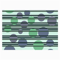 Green Simple Pattern Large Glasses Cloth (2 Side) by Valentinaart