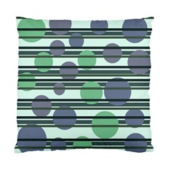 Green Simple Pattern Standard Cushion Case (two Sides) by Valentinaart