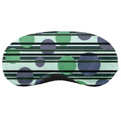 Green Simple Pattern Sleeping Masks by Valentinaart