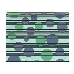Green Simple Pattern Cosmetic Bag (xl) by Valentinaart