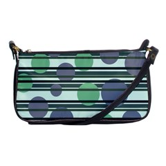 Green Simple Pattern Shoulder Clutch Bags by Valentinaart