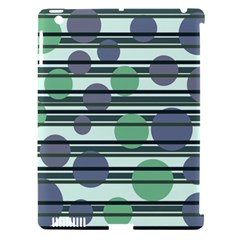 Green Simple Pattern Apple Ipad 3/4 Hardshell Case (compatible With Smart Cover) by Valentinaart