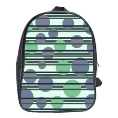 Green Simple Pattern School Bags (xl)  by Valentinaart