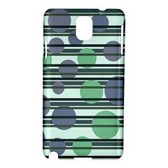 Green Simple Pattern Samsung Galaxy Note 3 N9005 Hardshell Case by Valentinaart