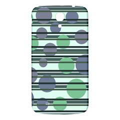 Green Simple Pattern Samsung Galaxy Mega I9200 Hardshell Back Case by Valentinaart